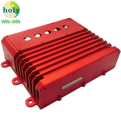 Outdoor Red Anodized Aluminum Modular Industrial Router with Precision CNC Machining Service