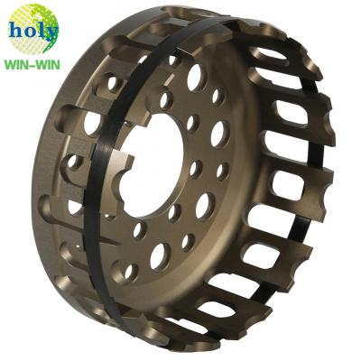 Ducati Motorcycle Tool Dry Clutch Basket Part with Precision CNC Machining with Hard-Anodized Finish